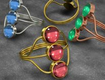 Kupfer, Cabochons, Gems, Visualizations