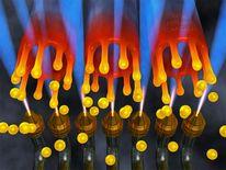 Flames, Kugel, Illustration, Grafik