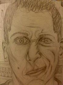 Gesicht, Skizze, Portrait, Grafik