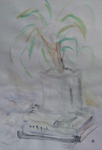 Baum, Tusche, Tisch, Feder