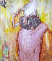Malerei, Abstrakt, Zusammen, Langsam