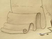 Zeichnungen, Stillleben, Feder, Brief