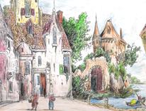 Mittelalter, Markt, Nederlande, Wasser