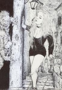 Minkleid, Zombie, Frau, Erotik