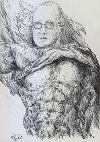 Karikatur, Niedersachsenpferd, Persiflagemuskeln, Model