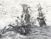 Schiff, Alptraum, Traum, Surreal