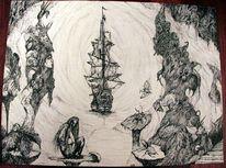 Schiff, Horror, Surreal, Traum