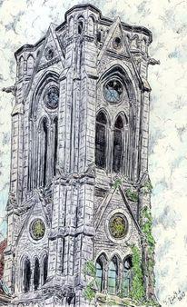 Kugelschreiber, Kapelle, Antik, Gotik