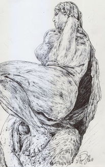 Frau, Bunarotti, Renaissance, Figur