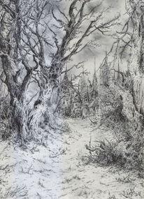 Landschaft, Wald, Romantik, Baum