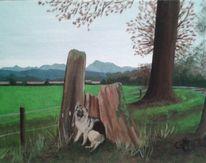 Malerei, Hund