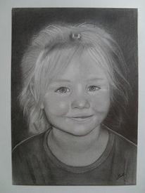 Kind, Mädchen, Portrait, Blond