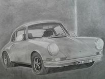 Oldtimer, Porsche, Motorhaube, Auto