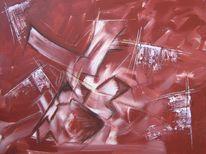 Wachs, Acrylmalerei, Wischen, Abstrakt