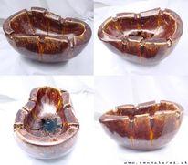 Aschenbecher tonmalerei, Kunsthandwerk, Keramik