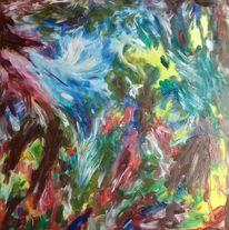 Grün, Braun, Blau, Malerei