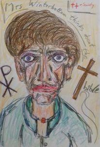 Kreuz, Grün, Lila, Zeichnungen