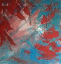Blau, Rot, Rosa, Malerei