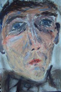 Gesicht mann, Malerei, Menschen, Leere