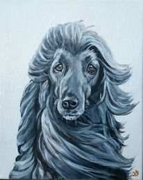Hund, Windhund, Malerei