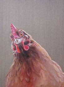 Henne, Huhn, Geflügel, Malerei