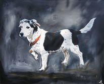 Jack russell, Hund, Terrier, Malerei