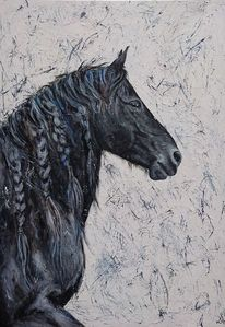 Pferde, Friese, Portrait, Malerei