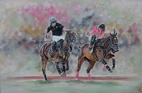 Mann, Polo, Pferde, Polosport