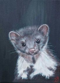 Portrait, Waldtier, Malerei,