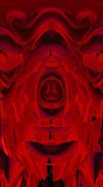 Digitale kunst, Portrait, Rose