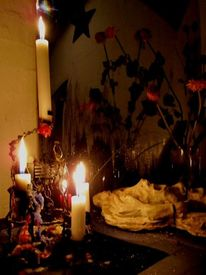 Kerzen, Blumen, Fotografie, Wachs