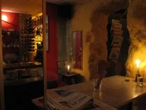 Kneipe, Kerzen, Café, Spiegel