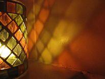 Bunt, Glas, Kerzen, Schein