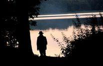 Mann, Silhouette, Natur, Baum