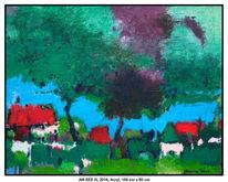 Malerei, Acrylmalerei, Schatten, Blau