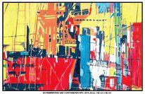 Hafen, Malerei, Welle, Auftragsarbeit