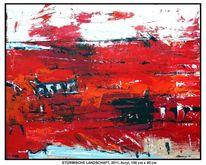 Rot schwarz, Blau, Wind, Haus