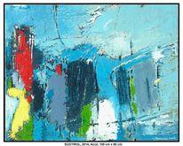 Berge, Acrylmalerei, Wolken, Vogel