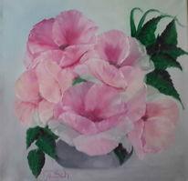 Vase, Grau, Pastellmalerei, Blüte