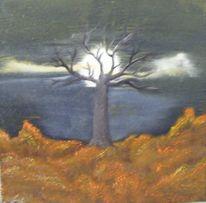 Ölmalerei, Nass, Herbst, Technik