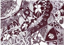 Schwarz weiß, Liebe, Malerei, Leben