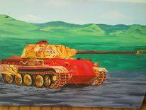 Panzer, Malerei, Panther
