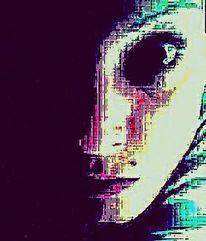 Gesicht, Augen, Geheimnissvoll, Angst