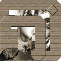 Rahmen, Fraktalkunst, Braun, Finden