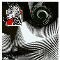 Dekoration, Zebra, Spirale m muster, Rosan