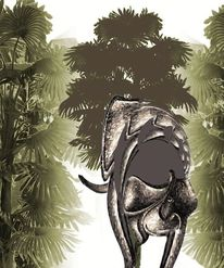 Regenwald, Elefanten straße, Mixed, Pfad