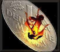 Deutsche mark, Zeichnen, Währung, Riechen