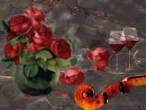 Gemütlichkeit, Rosan, Glas, Rose