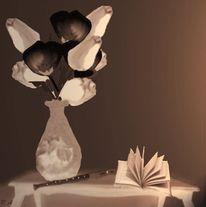 Sepia, Konzert, Blumen, Wand