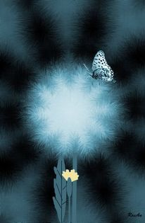 Pflanzen, Insekten, Gemälde, Schmetterling